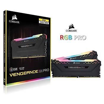 Corsair Vengeance RGB PRO 16GB(2x8GB) 3200Mhz DDR4 CMW16GX4M2C3200C16 Bellek Siyah