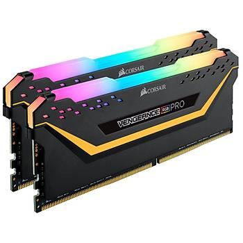 Corsair Vengeance RGB PRO 16GB(2x8GB) 3000Mhz DDR4 CMW16GX4M2C3000C15-TUF Siyah