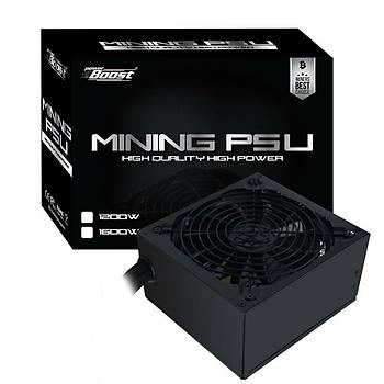 PowerBoost FORCE BST-ATX1200G 1200W 80+ Gold 12 x (6+2pin) 14cm Fanlý Mining Power Supply