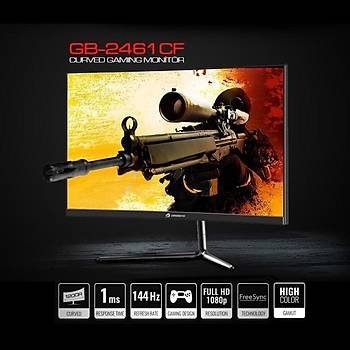 GameBooster GB-2461CF 24inch 144Hz 1ms Curved FreeSync Full HD Gaming Monitör