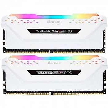 Corsair Vengeance RGB PRO 32GB (4x8) 3200Mhz CMW32GX4M2C3200C16W Beyaz