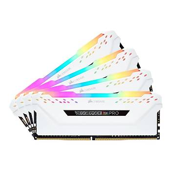 Corsair Vengeance RGB PRO 32GB (4x8) 3600Mhz CMW32GX4M4C3600C18W Beyaz