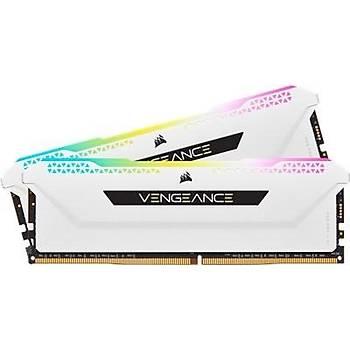 Corsair Vengeance RGB PRO SL 16GB (2x8) 3600Mhz CL18 CMH16GX4M2D3600C18W DDR4 Ram Bellek Beyaz
