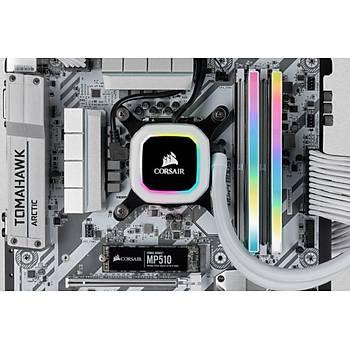 Corsair Vengeance RGB PRO SL 32GB (2x16GB) DDR4 3200Mhz CMH32GX4M2E3200C16W Bellek Siyah