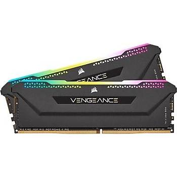 Corsair Vengeance RGB PRO SL 16GB (2x8) 3200Mhz CL16 CMH16GX4M2E3200C16 DDR4 Ram Bellek Siyah