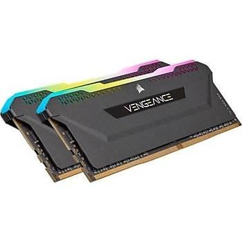 Corsair Vengeance RGB PRO SL 16GB (2x8) 3200Mhz CL16 CMH16GX4M2Z3200C16 DDR4 Ram Bellek Siyah