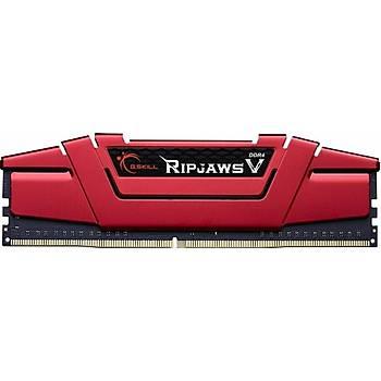 GSKILL RipjawsV 16GB DDR4 3000Mhz CL16 Tek Modül 1.35V Kýrmýzý (F4-3000C16S-16GVRB)