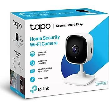 TP-LINK Tapo C100 FULL HD 1080p GECE GÖRÜÞLÜ 128GB MICRO SD DESTEKLI WIFI KAMERA