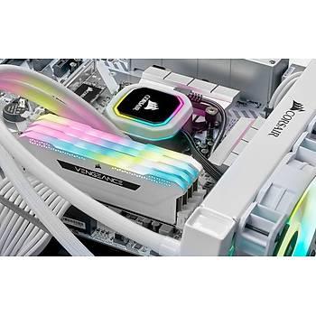 Corsair Vengeance RGB PRO SL 16GB (2x8) 3200Mhz CL16 CMH16GX4M2E3200C16W DDR4 Ram Bellek Beyaz