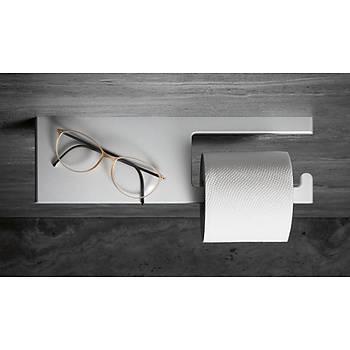 Paslanmaz Çelik - Tuvalet Kaðýtlýðý & Çok Amaçlý Raf
