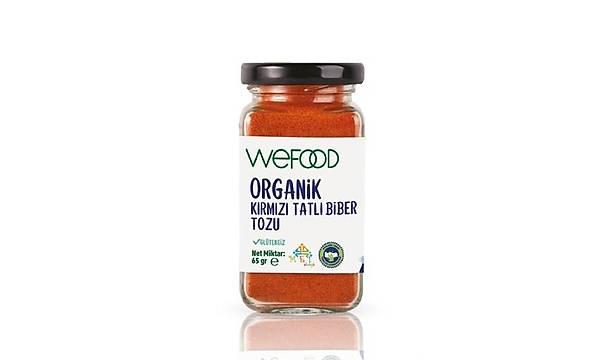 Wefood Organik Kýrmýzý Tatlý Biber Tozu 65 gr