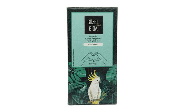 GÜZEL GIDA Organik Parçacýklý Çikolata
