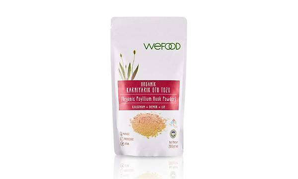 Wefood Organik Karnýyarýk Otu (Psyllium) Tozu 200 gr