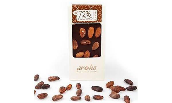 Aroha Bademli Bitter Çikolata - %72 Kakao