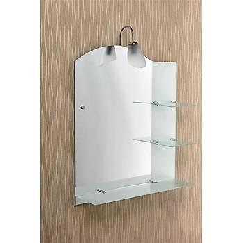 Tek Aplikli Raflý Buzlu Ayna