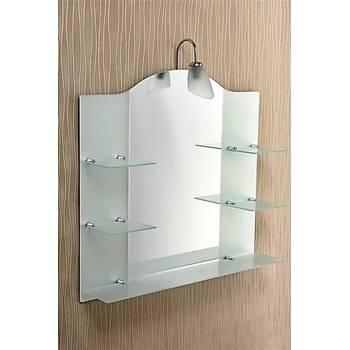 Çift Raflý Buzlu Ayna Aplikli