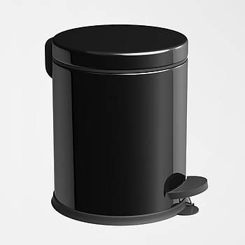 Siyah 5 Lt Pedallý Çöp Kovasý