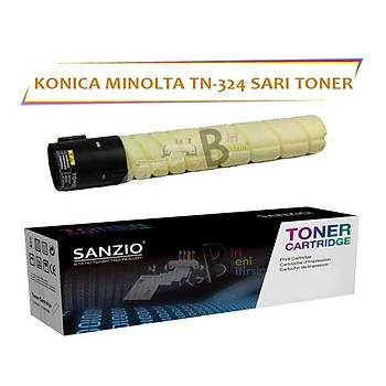 Konica Minolta TN 324Y (A8DA230) Yellow Sarý Toner Bizhub C258 C308 C368