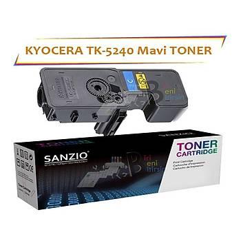 Kyocera Mita TK5240 Cyan Mavi 3000 Sayfa Muadil Toner Ecosys M5526 P5026