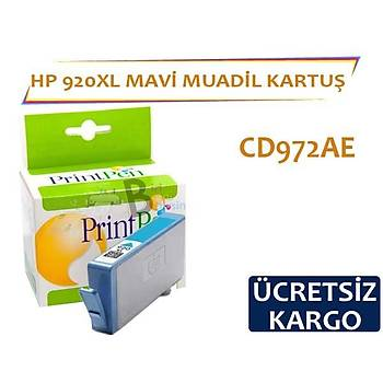 HP 920 XL Mavi Muadil Kartuþ CD972AE