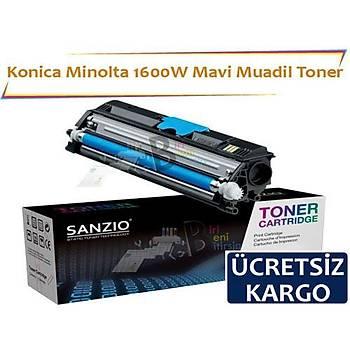 Konica Minolta 1600W Mavi Muadil Toner Fax 1600 1600E 2600 2800 3600 3800