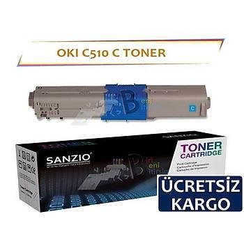 Oki C510 Muadil Toner Mavi Yüksek Kapasiteli C511 C530 C531 MC352 MC361 MC561 MC562