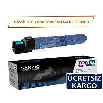 Ricoh MP C2800 C3300C Mavi Muadil Toner Aficio C3501 C3001 C2500