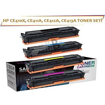 HP LaserJet CE410A Muadil Toner Seti M351, M451NW, M451DN, M451DWN, M375NW, M475DN, M475DW 305A