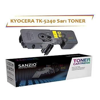 Kyocera Mita TK5240 Yellow Sarý 3000 Sayfa Muadil Toner Ecosys M5526 P5026