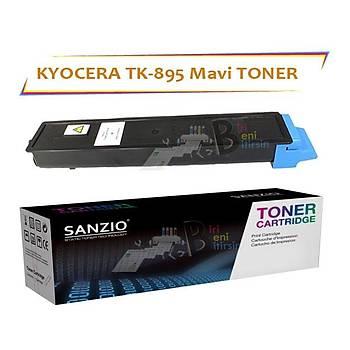 Kyocera Mita TK 895C Mavi Muadil Toner FS C 8020 8025 8520 8525