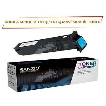 Konica Minolta TN 213 TN 214C Mavi Muadil Toner C253 C203 C200