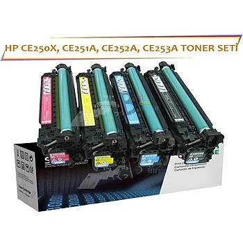 HP CE250A Muadil Toner Seti 4Renk Color LaserJet Cm3530 Cp3525