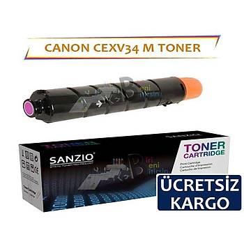 Canon CEXV34 Kýrmýzý Muadil Toner Copier C2020 C2025 C2030