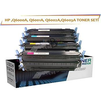 HP Q6000A Muadil Toner seti 4 Renk 1600 2600 1017 2605 1017