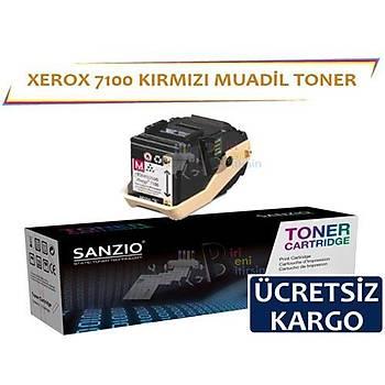 Xerox Phaser 7100 Muadil Toner Kýrmýzý