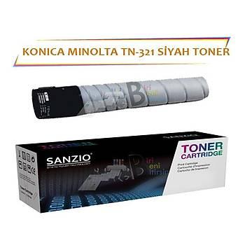 Konica Minolta TN 321BK Siyah 25 000 Sayfa Muadil Toner Bizhub C224 C284 C364