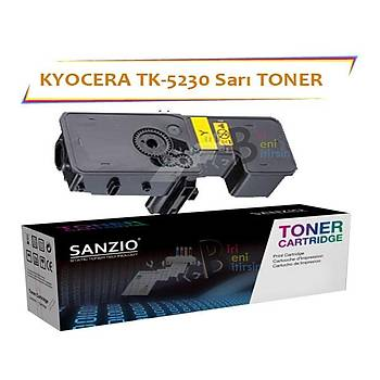 Kyocera Mita TK5230 Yellow Sarý 2200 Sayfa Muadil Toner ECOSYS P5021 M5521