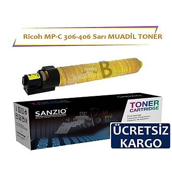 Ricoh MP C 306 406 Sarý Muadil Toner 9500 Sayfalýk