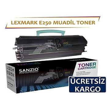 Lexmark E250 Muadil Toner E250 E250d E250dn E350d E352dn