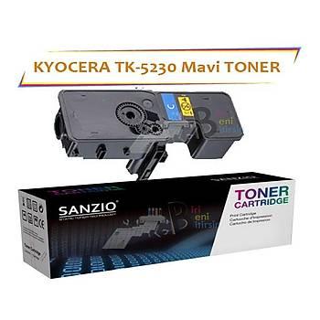 Kyocera Mita TK5230 Cyan Mavi 2200 Sayfa Muadil Toner ECOSYS P5021 M5521