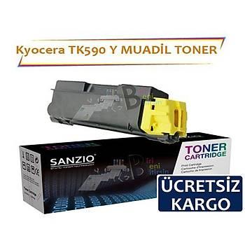 Kyocera Tk 590 Y Sarý Muadil Toner Kyocera Fs C2026 C2526 M6026 M6526