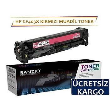 HP Color LaserJet Pro CF403X Muadil Toner Kýrmýzý 201X MFP M274N M252N M252DW M277DW