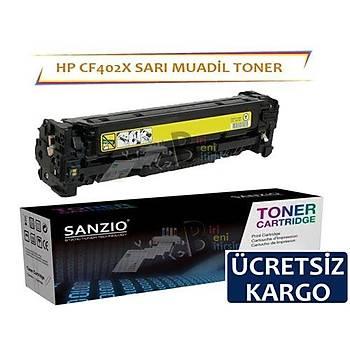 HP Color LaserJet CF402X Muadil Toner Sarý 201X MFP M274N M252N M252DW M277DW