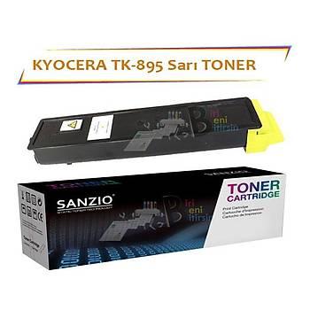 Kyocera Mita TK 895Y Sarý Muadil Toner FS C 8020 8025 8520 8525