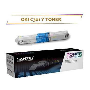 Oki C301 Sarý Muadil Toner C301 C321 MC332 MC342