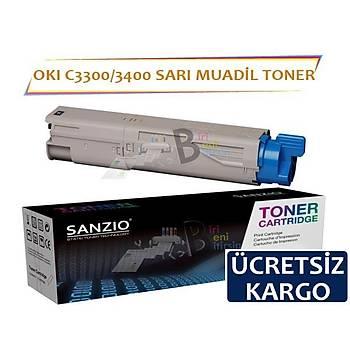 Oki C3300 C3400 C3450 C3600 Muadil Toner Sarý