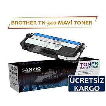 For Brother Tn 340 C Mavi Muadil Toner Dcp9055 Hl 4150 4570 Mfc9460 9969