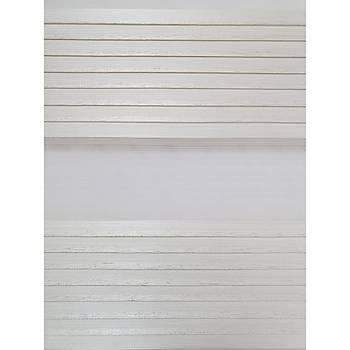 BBB Geniþ Pliseli Simli Zebra Stor Perde MZ296