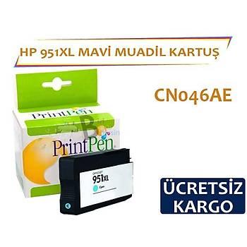 HP 951 XL Mavi Muadil Kartuþ CN046AE