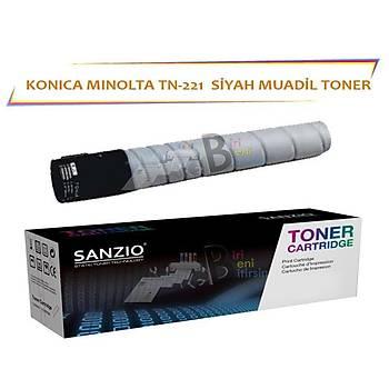 Konica Minolta TN 221 K Muadil Toner Bizhub C227 C287